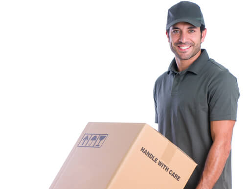 Courier with delivery